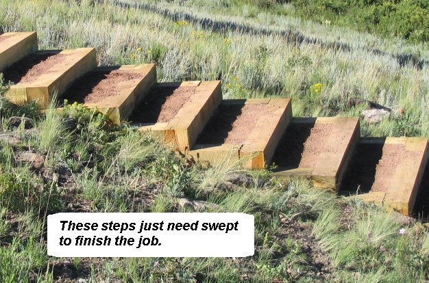Relatively How to build steps up a hill TO76